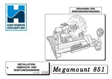 Megamount 851 manuale ed 05_06 D.pmd - Hofmann Megaplan