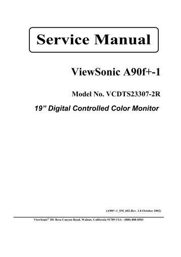 service manual viewsonic e90fb 4 model no michael lissner rh yumpu com viewsonic n3260w service manual viewsonic va703b service manual
