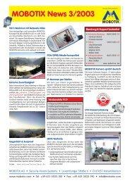 MOBOTIX News 3/2003 - camtech-inside.de