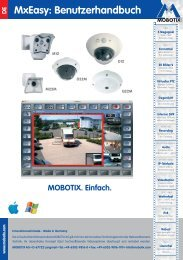 MxEasy: Benutzerhandbuch X - camtech-inside.de