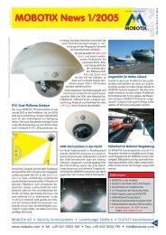 MOBOTIX News 1/2005 - camtech-inside.de