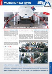 MOBOTIX News 10/08 - camtech-inside.de