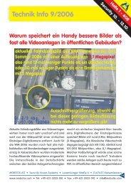 Technik Info 9/2006 - camtech-inside.de