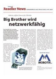 Sonderdruck Mobotix - camtech-inside.de
