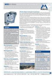 M10M-Web Technische Spezifikation - camtech-inside.de