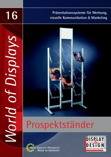 16 Prospektstaender - Display & Design Helmut Amelung GmbH