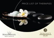 to view our price list for all treatments - Nuala Woulfe Beauty Salon
