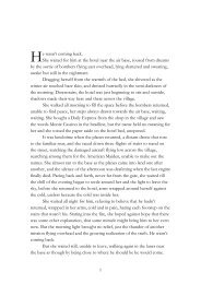 an Excerpt - Palmer Higgs Books Palmer Higgs Books