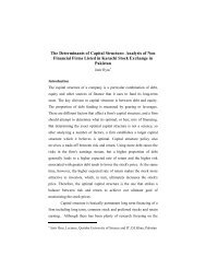 The Determinants of Capital Structure - Qurtuba University of ...