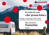 «Der grosse Kater» Flumenthal - Roadmovie