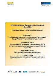 Handout aus dem Workshop - Ganztägig Lernen - Saarland