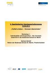Handout vom Workshop - Ganztägig Lernen - Saarland
