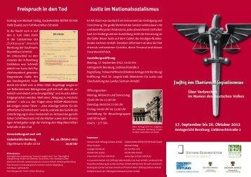 Justiz im Nationalsozialismus - Heinrich-Böll-Stiftung Sachsen-Anhalt