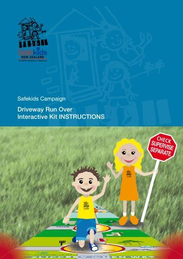 Safekids New Zealand driveway run over interactive kit instructions