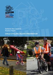 Safekids New Zealand Position Paper: Child Cycling Injury Prevention