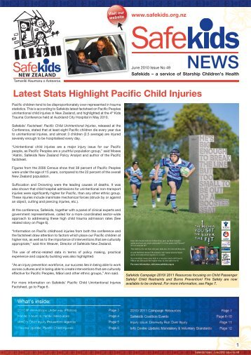 Latest Stats Highlight Pacific Child Injuries - Safekids