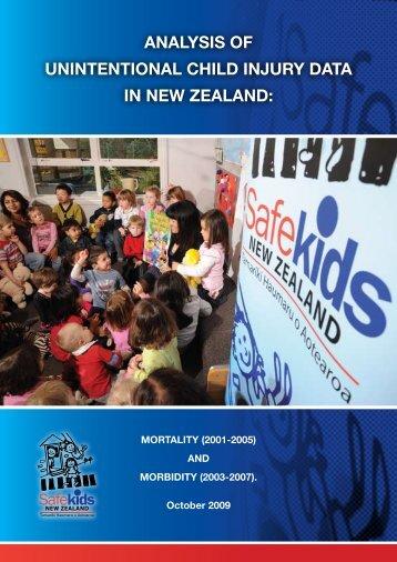 Analysis of Unintentional Child Injury Data in New Zealand - Safekids