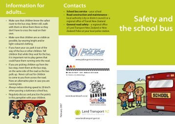 Safety and the school bus Flyer - Safekids