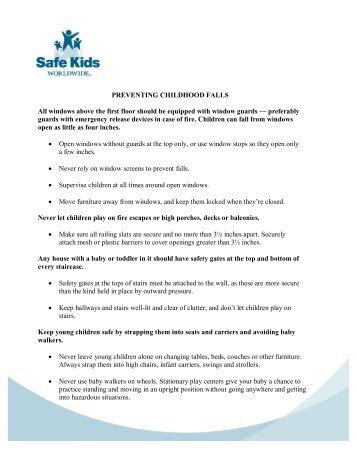 Safety Tips - Safe Kids Nebraska