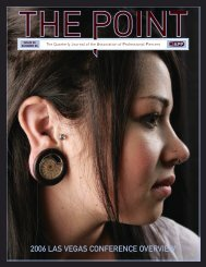 inside this issue - Association of Professional Piercers