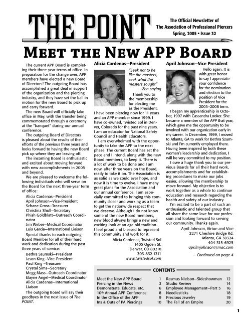 Meet The New App Board Association Of Professional Piercers