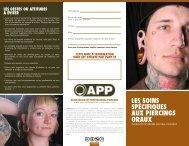 les soins spécifiques aux piercings oraux - Association of ...