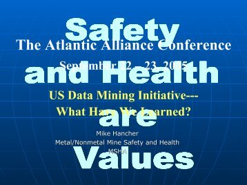 US Data Mining Initiative: What Have We Learned - Safequarry.com