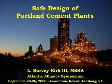 Safe Cement Plant Design - Safequarry.com