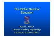 The Global Need for Education