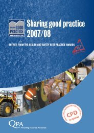 Sharing good practice 2007/08 - Safequarry.com