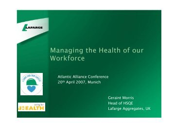 Managing the Health of our Workforce - Safequarry.com