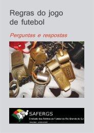 Regras do jogo de futebol - SAFERGS