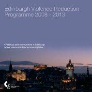 Edinburgh Violence Reduction Programme - Edinburgh Community ...