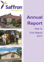 Annual Report 2011 - Saffron Housing