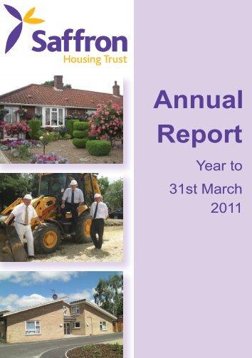 Annual Report 2011 - Saffron Housing