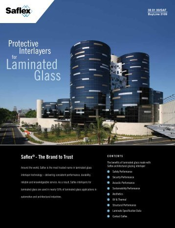 interlayer. Laminated glass - Saflex.com
