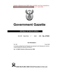 Division of Revenue Act [No. 1 of 2005] - South Africa Government ...