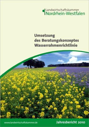Umsetzung des Beratungskonzeptes Wasserrahmenrichtlinie