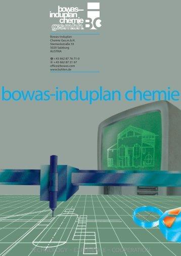 bowas-induplan chemie - Bohlen Industrie GmbH