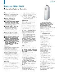 Batteries SRM+ Ni-Cd - Saft