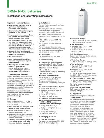 SRM+ Ni-Cd batteries - Saft