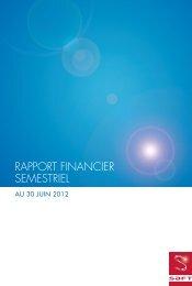 RAPPORT FINANCIER SEMESTRIEL - Saft