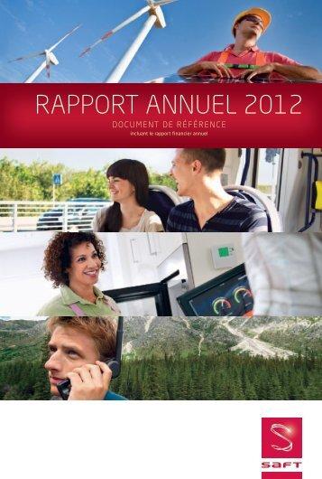 RAPPORT ANNUEL 2012 - Saft