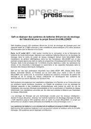 Saft CSX Transportation press release