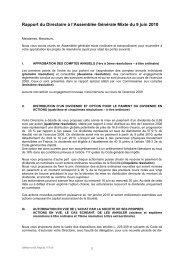 Rapport du Directoire à l'Assemblée Générale Mixte du 9 juin ... - Saft