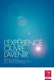 RAPPORt ANNUEL DOCUMENt DE RÉFÉRENCE 2011 - Saft