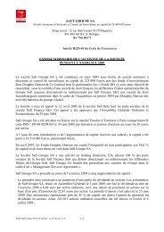 SAFT GROUPE SA Article R225-81 du Code de Commerce ...
