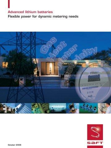 Metering market brochure - Saft