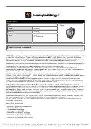 Scheda Prodotto PM90 Codice: BEU-PM90 ... - Bodybuilding.it