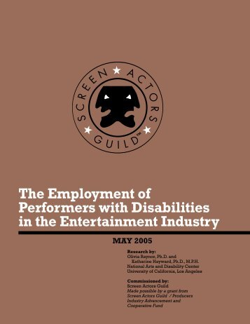 The Employment of Performers with Disabilities in the ... - I AM PWD